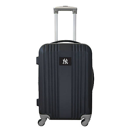 """Mojo L208 ABS Carry-On Hardcase Spinner, 21""""H x 14""""W x 9-1/2""""D, New York Yankees, Black/Gray"""