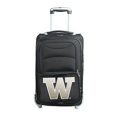 "Denco Sports Luggage NCAA Expandable Rolling Carry-On, 20 1/2"" x 12 1/2"" x 8"", Washington Huskies, Black"