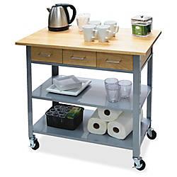 Vertiflex Countertop Serving Cart Solid Wood