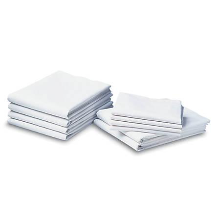 "Cotton Cloud Muslin Draw Sheets, 54"" x 72"", White, Case Of 12"