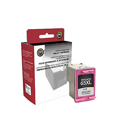 Clover Imaging Group 118155 Remanufactured High-Yield Ink Cartridge Replacement For HP 65XL Tricolor