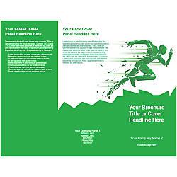 Customizable Trifold Brochure Green Runner