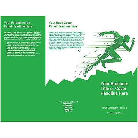 Customizable Trifold Brochure, Green Runner