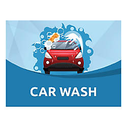 Plastic Sign Car Wash Horizontal