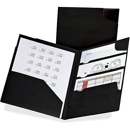 "Pendaflex Oxford Divide-It-Up 4-Pocket Poly Folders - Letter - 8 1/2"" x 11"" Sheet Size - 110 Sheet Capacity - 4 Pocket(s) - Poly - Black"