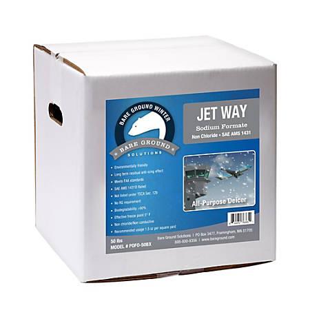 Bare Ground Jet Way Sodium Formate Deicer, 50 Lb Box
