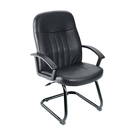 Boss Budget Leather Guest Chair, Black