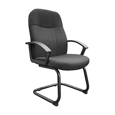"Boss® Fabric Guest Chair, 41""H x 25 1/2""W x 26""D, Black"