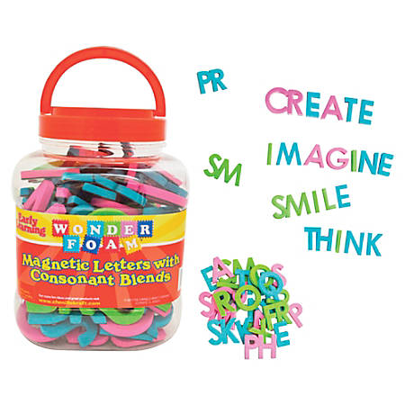Pacon Wonderfoam Consonant Blends Magnetic Letters - Magnetic - Assorted - Foam - 104 / Set