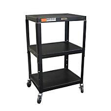 H Wilson Metal Utility Cart Black