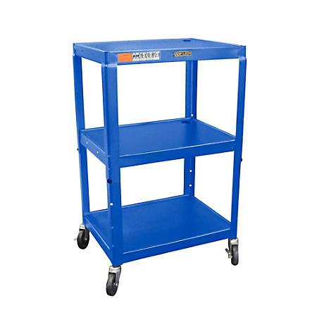 H. Wilson Metal Utility Cart, Blue