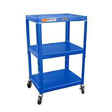 H Wilson Metal Utility Cart Blue