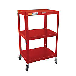 H Wilson Metal Utility Cart Red