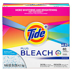 Tide Powder Laundry Detergent With Bleach