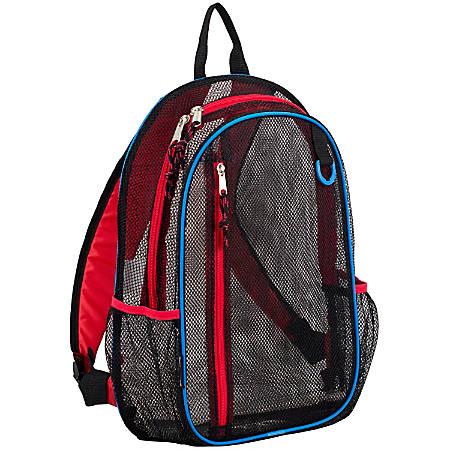 Eastsport Sport Mesh Backpack, Black/Red/Blue