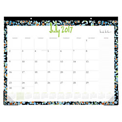 nicole miller academic fashion monthly desk pad calendar 22 x 17