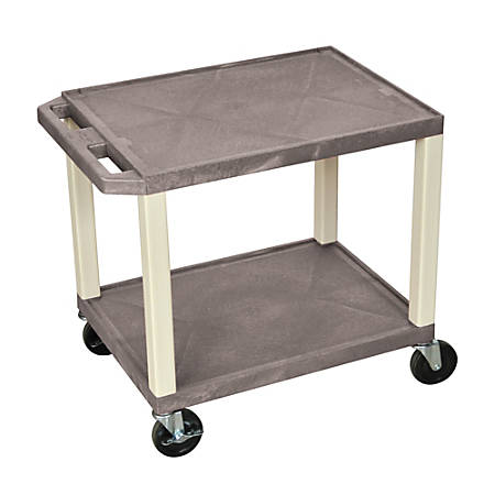 """H. Wilson 26"""" Plastic Utility Cart, With Electric Assembly, 26""""H x 24""""W x 18""""D, Gray"""