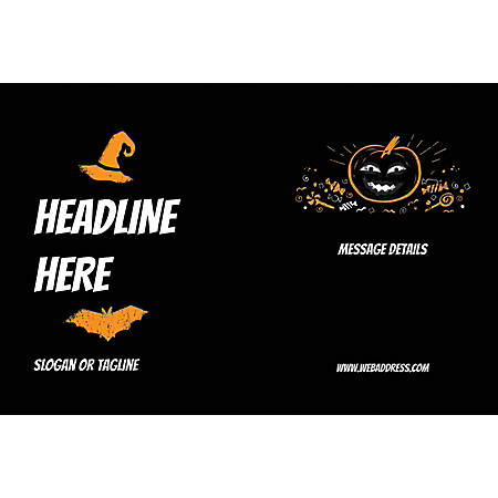 Custom Poster, Black Halloween, Horizontal