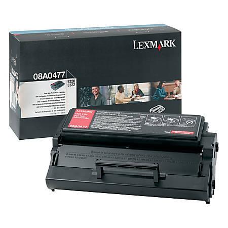 Lexmark™ 08A0477 High-Yield Black Toner Cartridge