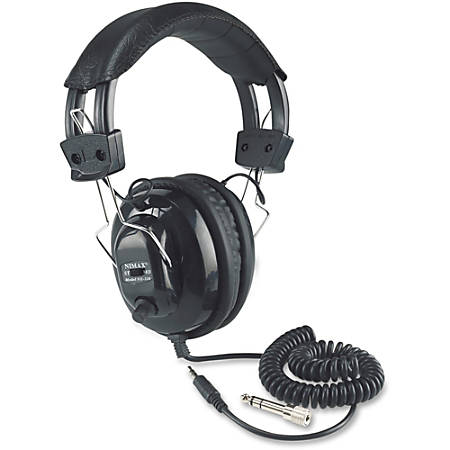 AmpliVox SL1002 Stereo Headphone - Stereo - Black - Wired - Over-the-head - Binaural - Ear-cup - 6 ft Cable