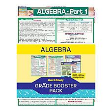 QuickStudy Grade Booster Pack Algebra