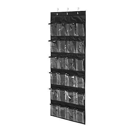 "Honey-Can-Do Over-The-Door 24-Pocket Closet Organizer, 57""H x 21""W x 2 1/2""D, Black"