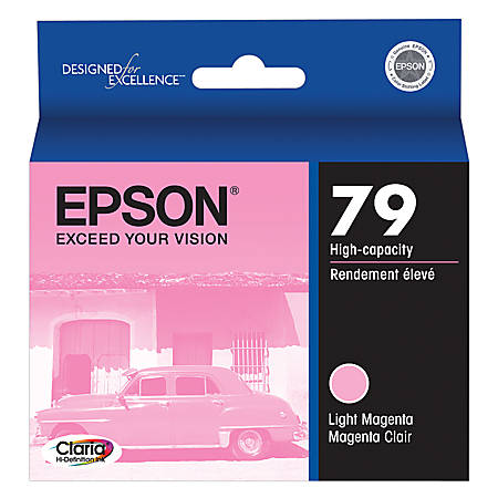 Epson® 79, (T079620) Claria® Hi-Definition High-Capacity Light Magenta Ink Cartridge