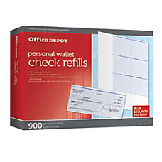 Office Depot Brand Personal Check Refill