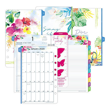 "Day-Timer® Kathy Davis Daily Planner Refill, Desk-Size 4, 5-1/2"" x 8-1/2"", January To December 2020, 521122001"