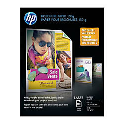 Hewlett Packard Brochure Paper Letter Paper