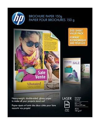 hp brochure paper letter paper size 150g white pack of 300 sheets by
