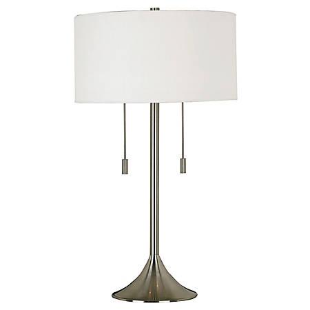 "Kenroy 30"" Stowe Table Lamp, Brushed Steel Finish"
