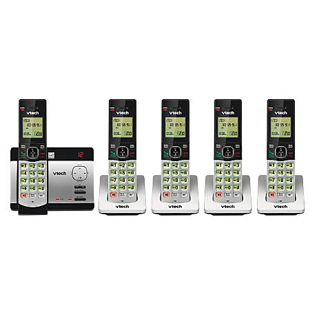 VTech® CS5129-5 5-Handset DECT 6.0 Cordless Phone System With Digital Answering System, 80-0200-00