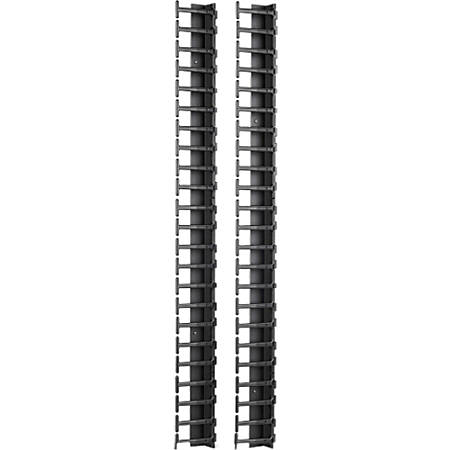 APC by Schneider Electric Vertical Cable Manager for NetShelter SX 600mm  Wide 42U (Qty 2) - Black - 2 Pack - 42U Rack Height Item # 637821