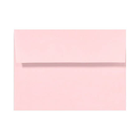 """LUX Invitation Envelopes With Peel & Press Closure, A2, 4 3/8"""" x 5 3/4"""", Candy Pink, Pack Of 50"""