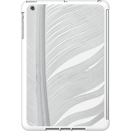 OTM iPad Mini White Glossy Case Feather Collection, Silver