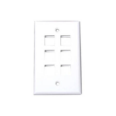 StarTech.com 6 Outlet RJ45 Universal Wall Plate - White