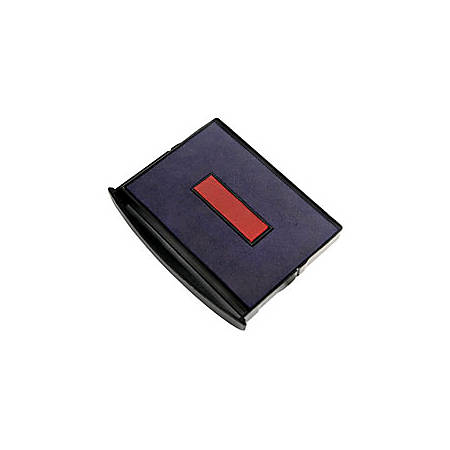 """2000 PLUS® 2-Color Self-inking Dater Replacement Pad, Red/Blue, 1 1/4"""" x 1 13/16"""" Impression"""
