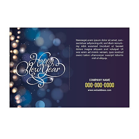 Adhesive Sign Template, Horizontal, New Year Light