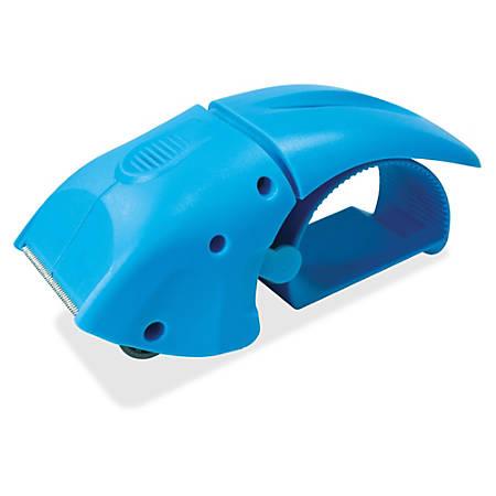 Sparco Packaging Tape Dispenser - Refillable - Ergonomic Design, Serrated Blade - Blue