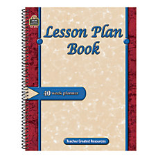Teacher Created Resources Lesson Plan Books