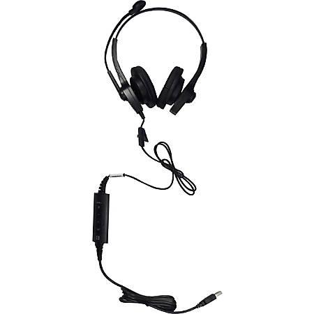 Spracht ZUM™ UC2 Dual Ear USB Headset, Black