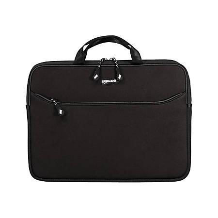 "Mobile Edge Slipsuit Notebook Sleeve - 10.8"" x 15.5"" x 2"" - Neoprene - Black, Platinum"
