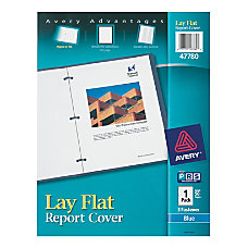 Avery Lay Flat Report Cover Blue