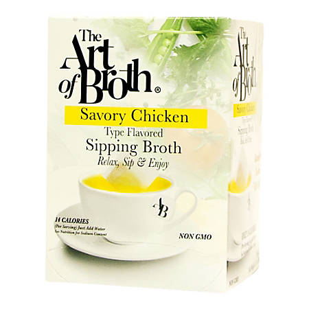 The Art of Broth Chicken Flavored Sipping Broth, Box Of 20 Bags