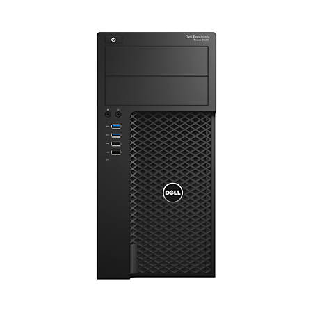 Dell™ Precision Tower 3620 Desktop PC, Intel® Core™ i3, 4GB Memory, 500GB Hard Drive, Windows® 7 Professional