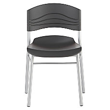 Iceberg Caf Works Caf Chairs BlackGraphite