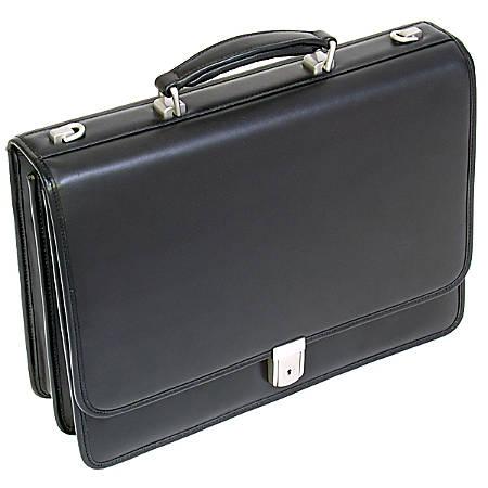 McKlein Bucktown Leather Briefcase, Black