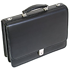 McKlein Bucktown Leather Briefcase Black