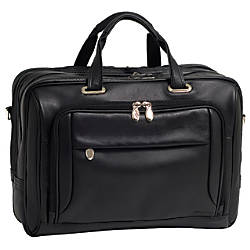 McKlein West Loop Leather Briefcase Black